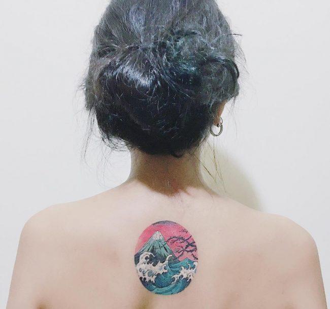 wave tattoo44
