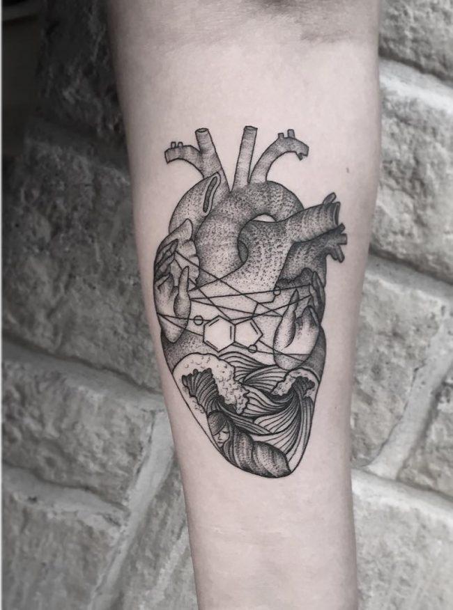wave tattoo45