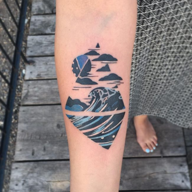 wave tattoo46