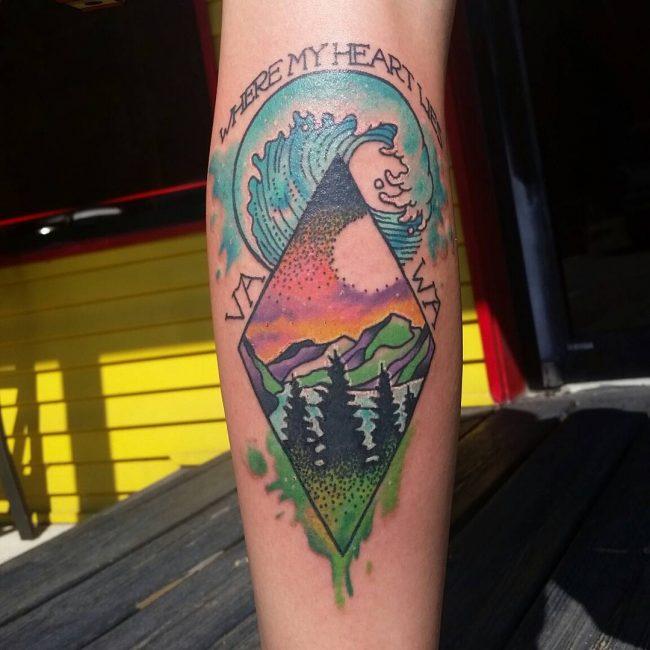 wave tattoo47