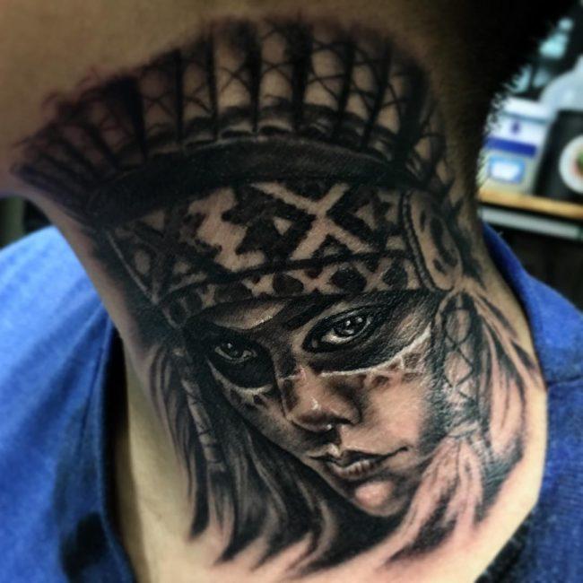 neck tattoo_