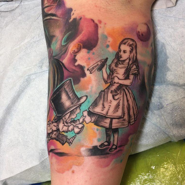 Alice in Wonderland Tattoo 104