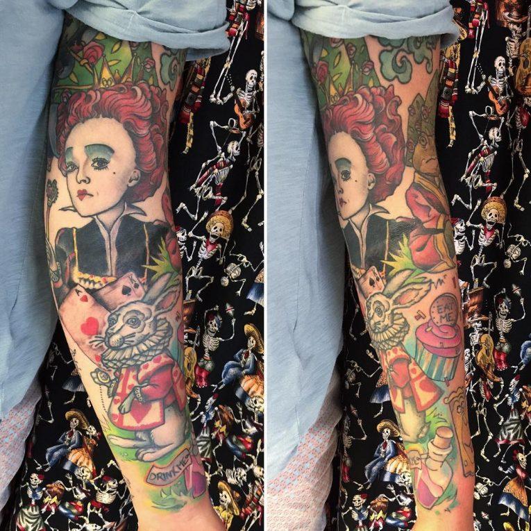 Alice in Wonderland Tattoo 105