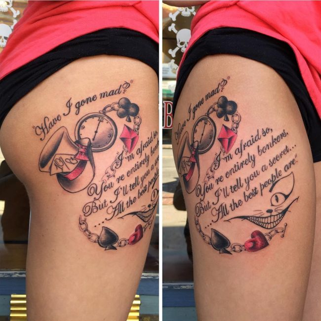 Alice in Wonderland Tattoo 89