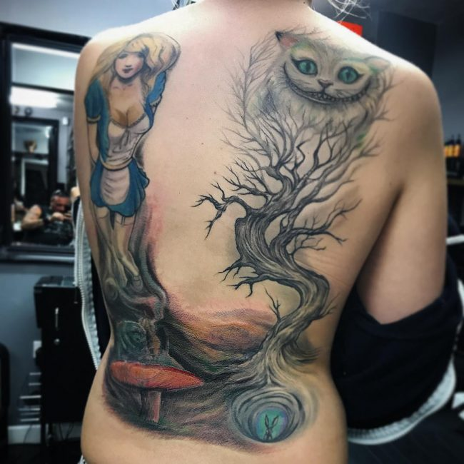Alice in Wonderland Tattoo 92
