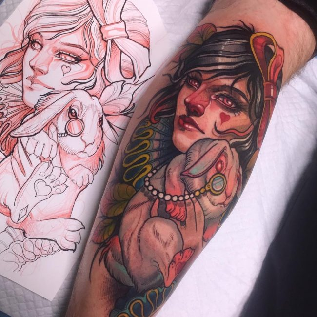 Alice in Wonderland Tattoo 95