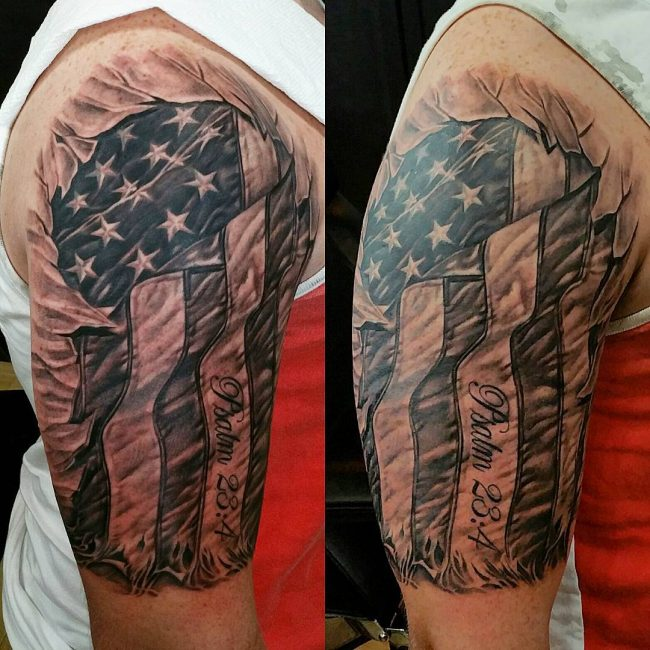 American Flag Tattoo 66