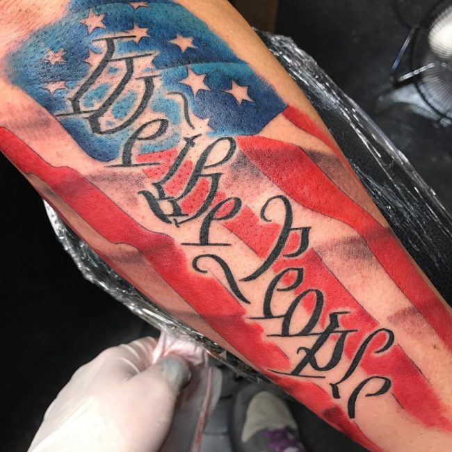 American Flag Tattoo 69