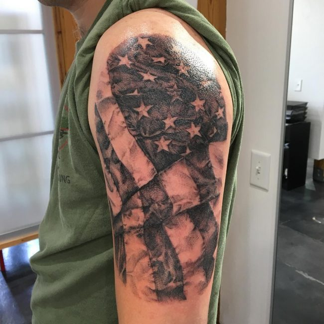 85 best patriotic american flag tattoos i love usa 2018 rh tattoo journal com african american flag tattoo black usa flag tattoo