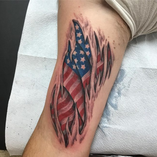 American Flag Tattoo 75