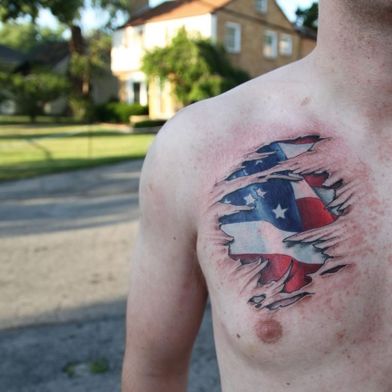 American Flag Tattoo 76