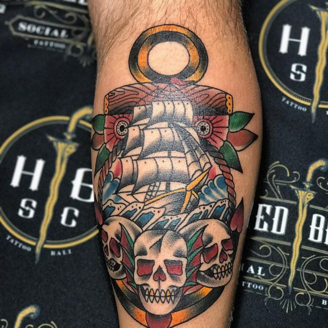 American Traditional Tattoo 106