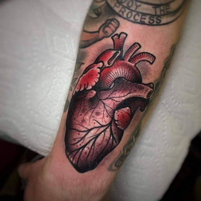 Anatomical Heart Tattoo 100