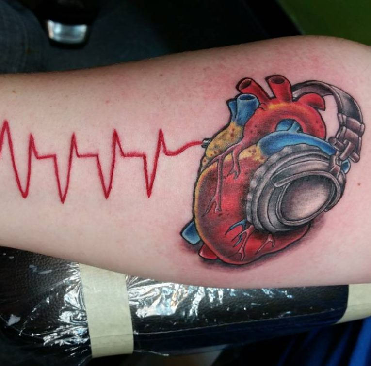 Anatomical Heart Tattoo 103