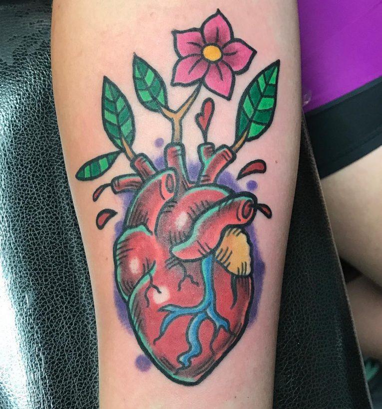 Anatomical Heart Tattoo 105
