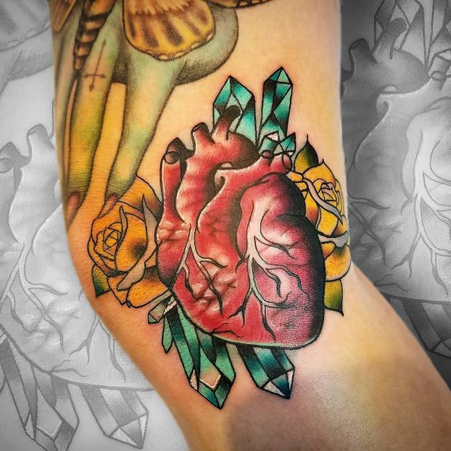 Anatomical Heart Tattoo 91