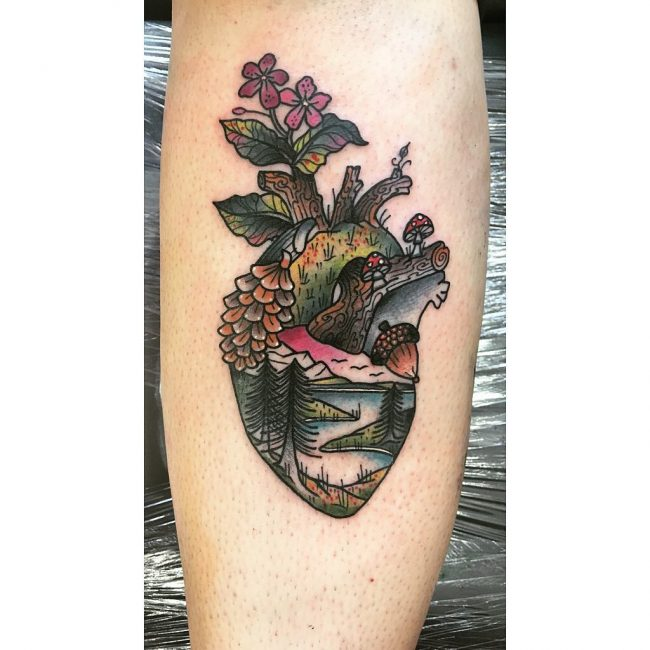 Anatomical Heart Tattoo 93