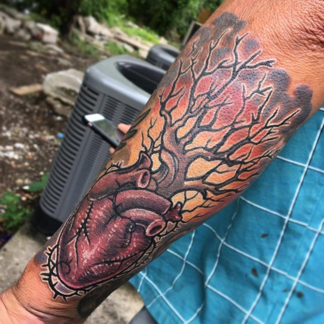 Anatomical Heart Tattoo 96