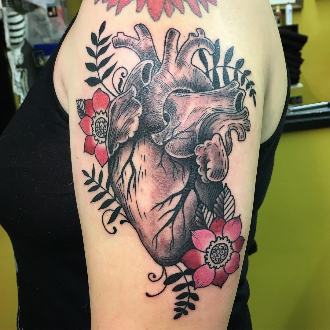 110+ Best Anatomical Heart Tattoo Designs & Meanings