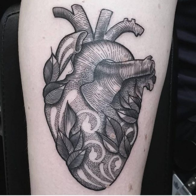 110 Best Anatomical Heart Tattoo Designs Meanings 2018