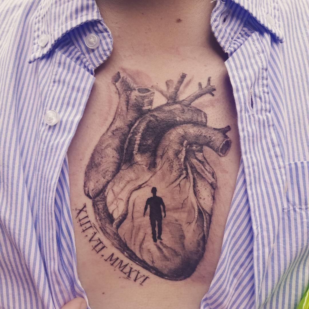 Tattoo Designs Heart: 110+ Sensitive Anatomical Heart Tattoo Designs