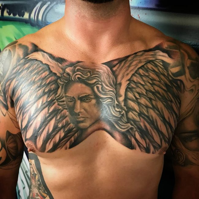 e6b0217c4 110+ Best Guardian Angel Tattoos - Designs & Meanings (2019)