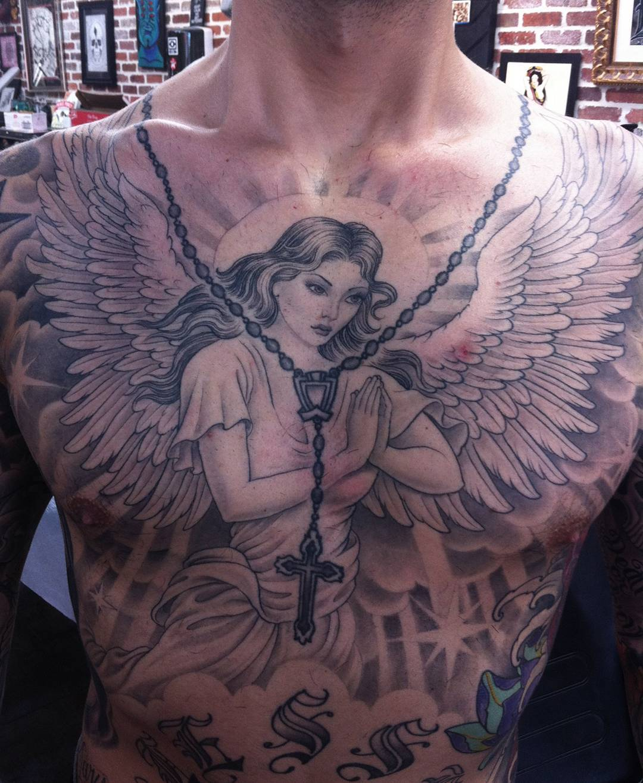 110+ Best Guardian Angel Tattoos - Designs & Meanings (2019)