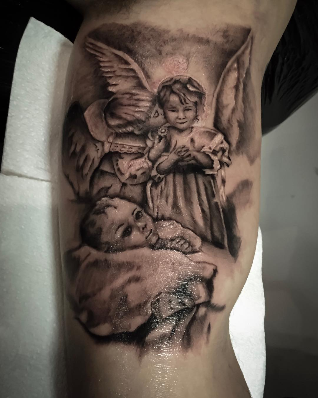 110+ Best Guardian Angel Tattoos - Designs & Meanings (2019)