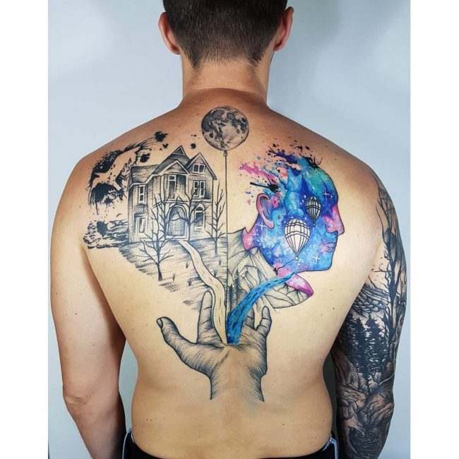 Back Tattoo 100