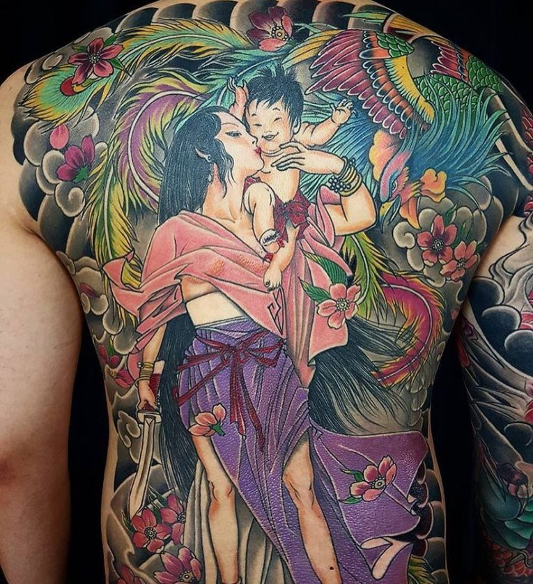 Back Tattoo 105
