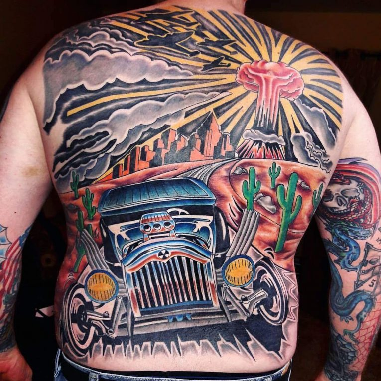 Back Tattoo 107