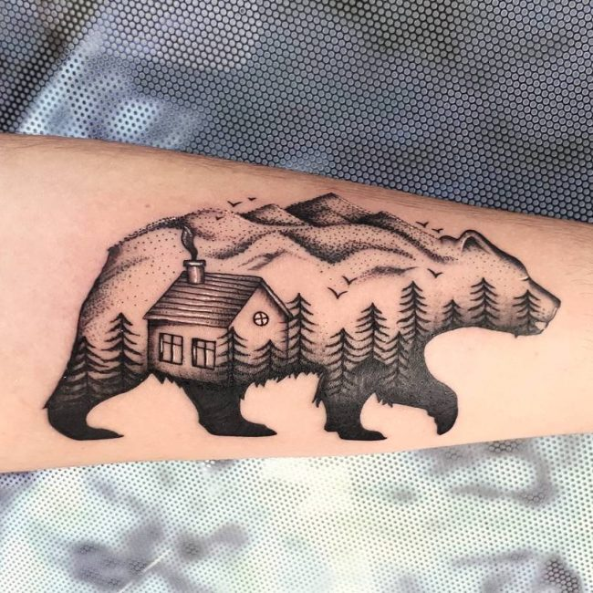 Bear Tattoo 66
