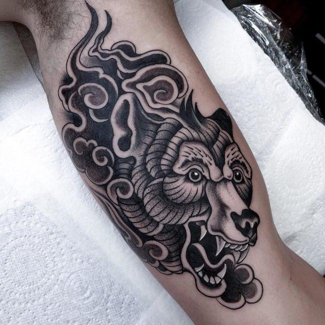 Bear Tattoo 69