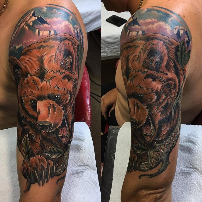 Bear Tattoo 70