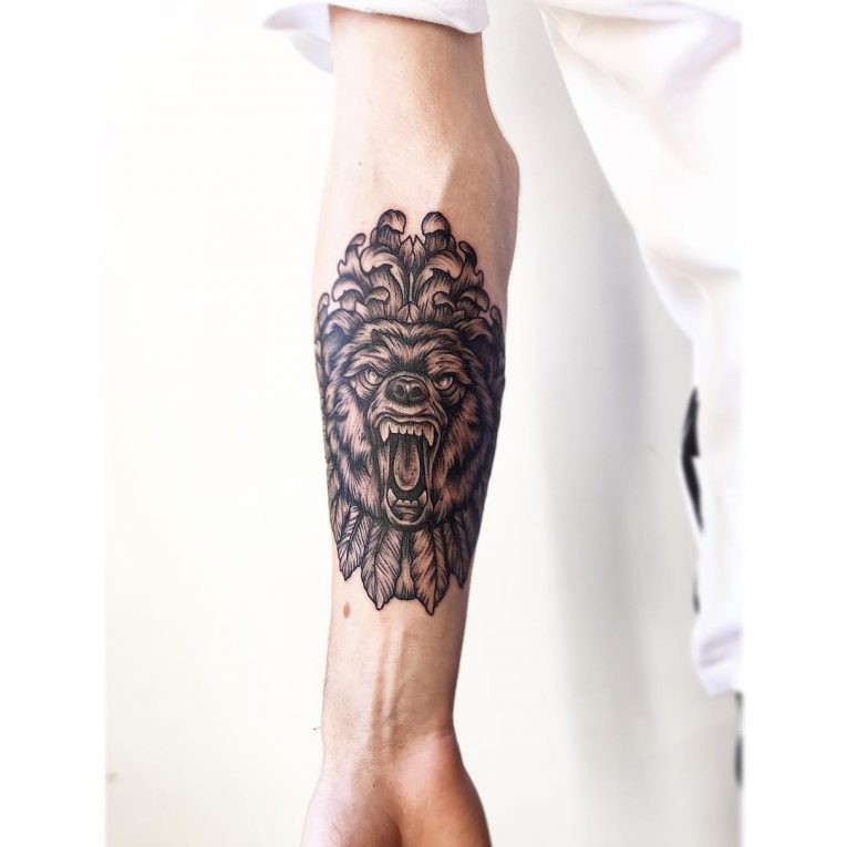 Bear Tattoo 76