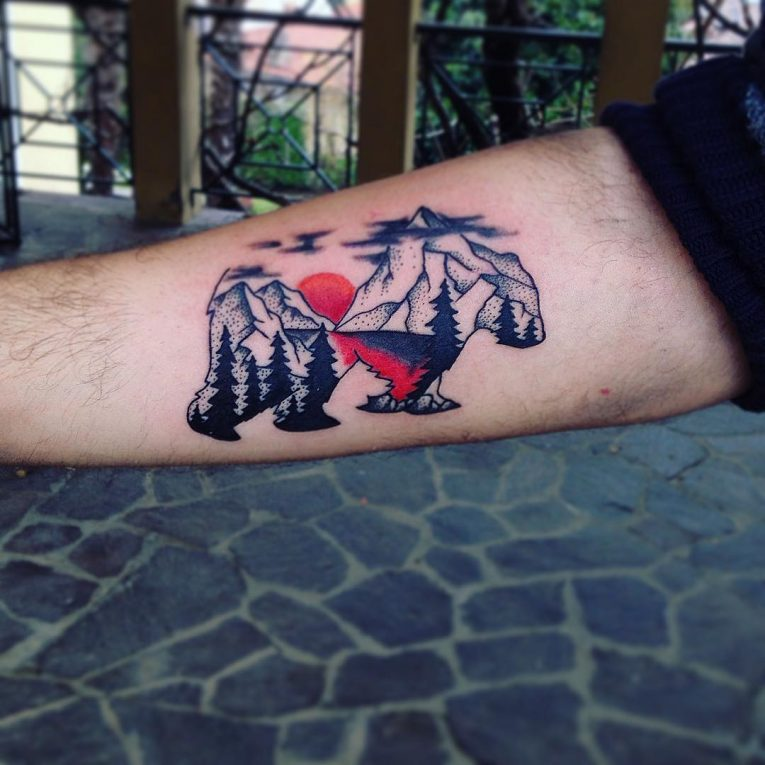 Bear Tattoo 77