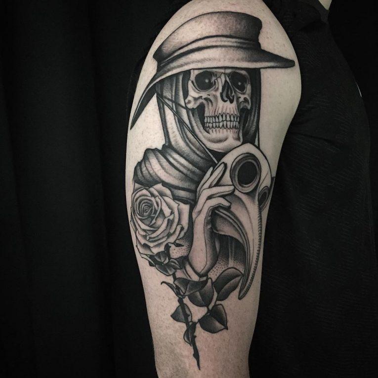 Black & White Tattoo 75