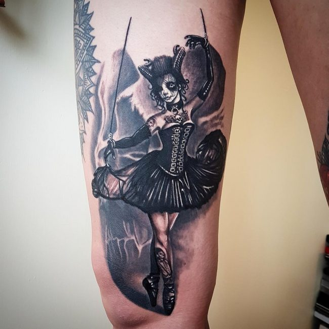 Black and Grey Tattoo 60