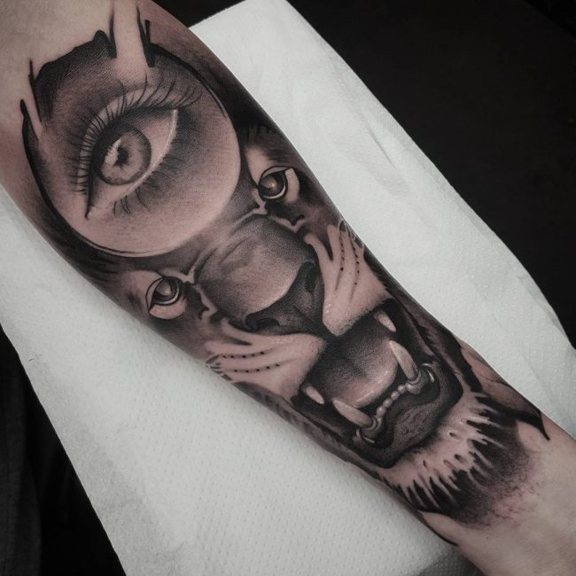 Black and Grey Tattoo 64
