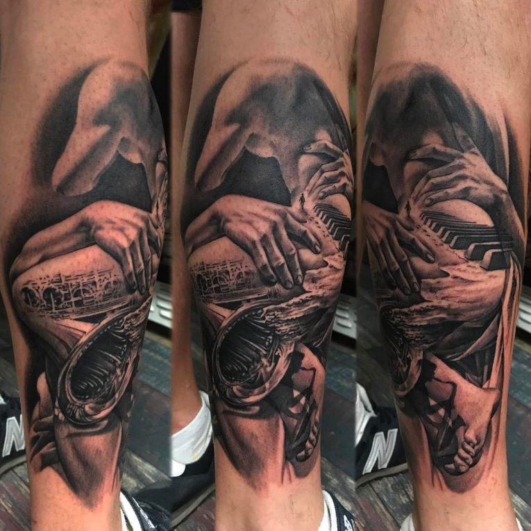 Black and Grey Tattoo 68
