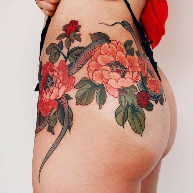 Butt Tattoo 54