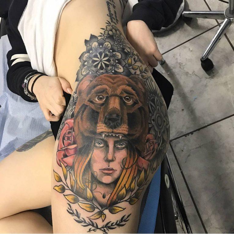 Butt Tattoo 56