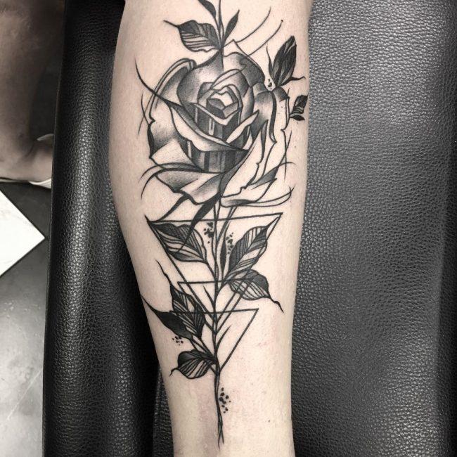 Calf Tattoo 111
