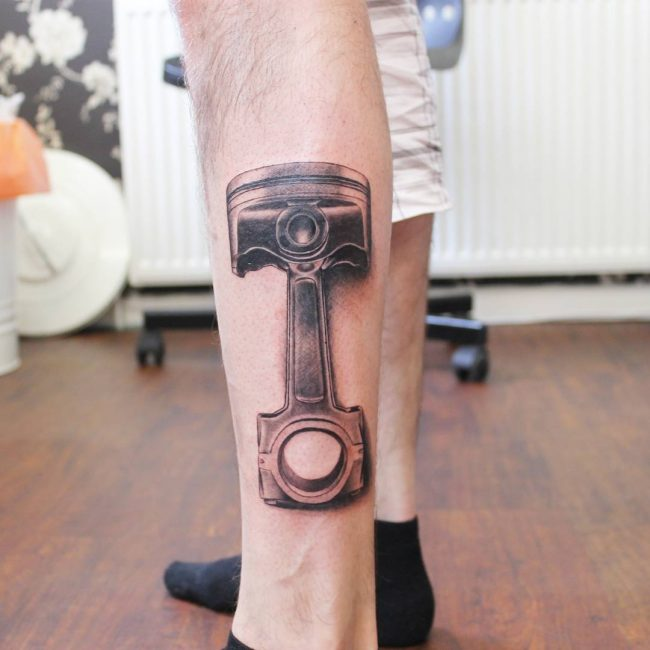 Calf Tattoo 112