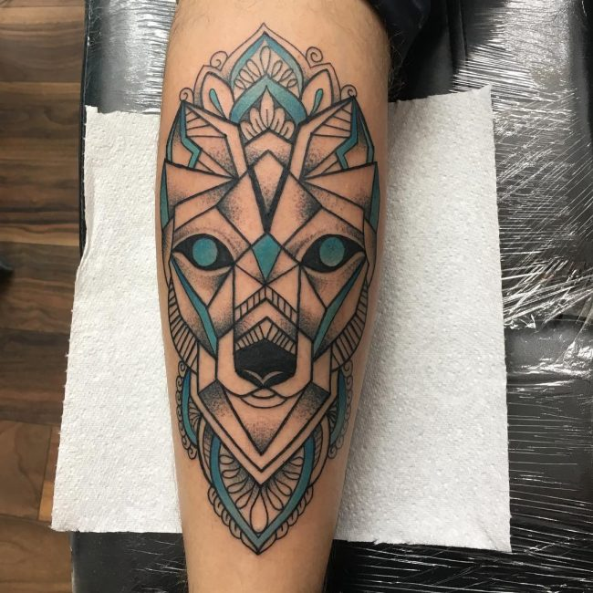 Calf Tattoo 113