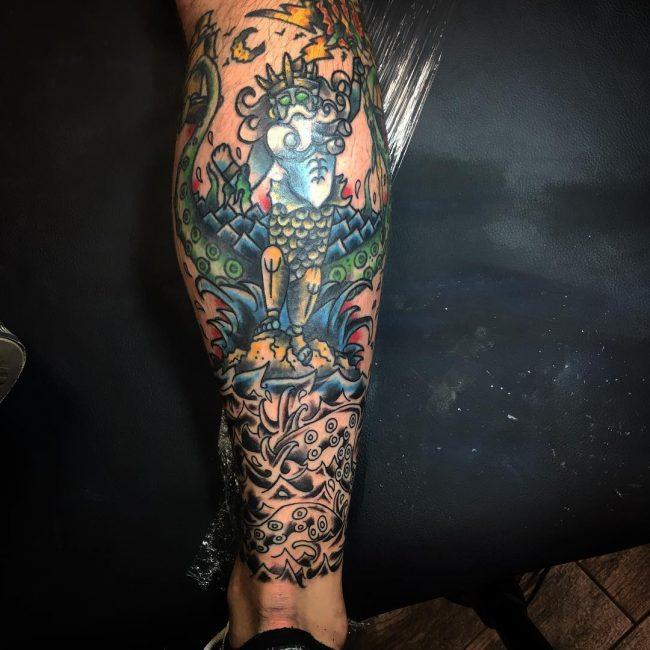 Calf Tattoo 118