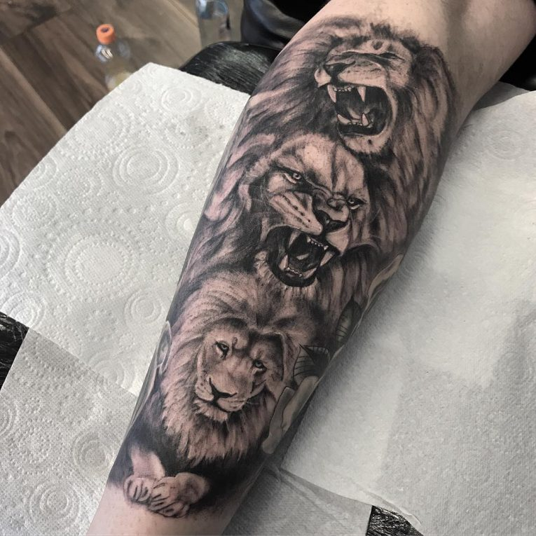 Calf Tattoo 122