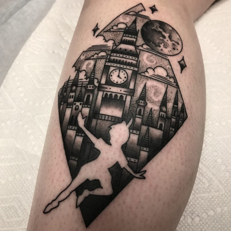 Calf Tattoo 123