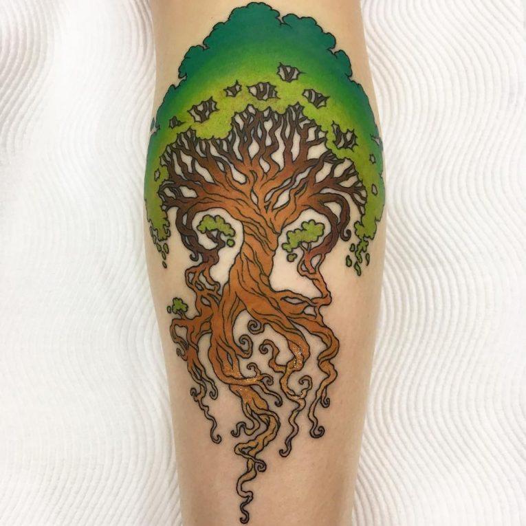 Calf Tattoo 127