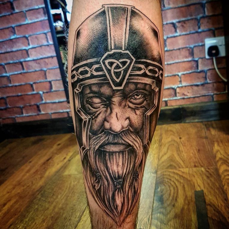 Calf Tattoo 128